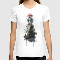 evangelion T-shirts featuring Ayanami Rei Evangelion Character Digital Painting by Barrett Biggers