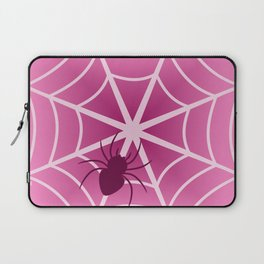 Spider web in pink Laptop Sleeve