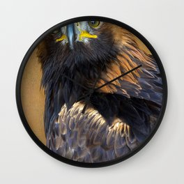 Scottish Golden Eagle Wall Clock