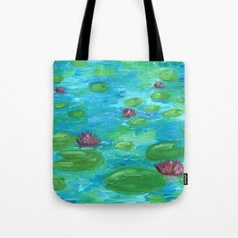 Lilypads by Mary Bottom Tote Bag