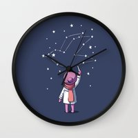 constellation Wall Clocks featuring Constellation by Freeminds