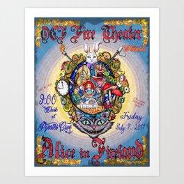 Alice in Fireland Art Print