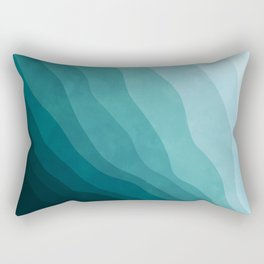 Stratum 2 Aqua Rectangular Pillow