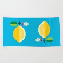 Fruit: Lemon Beach Towel