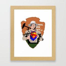Park Ranger resist Framed Art Print