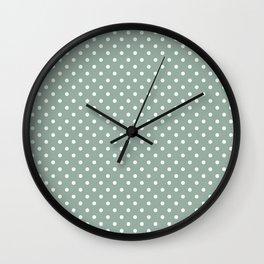 Pattern of the golden days polka dot design Wall Clock