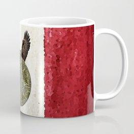 MEXICAN EAGLE AZTEC CALENDAR FLAG Coffee Mug