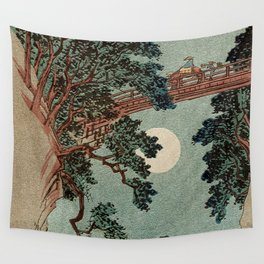 Saruhashi Bridge in Kai Province Japan Wall Tapestry