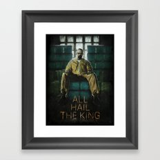 ALL HAIL THE KING Framed Art Print