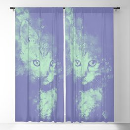 abstract young cat wspt Blackout Curtain