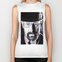 heisenberg Biker Tanks featuring Heisenberg  by DeMoose_Art