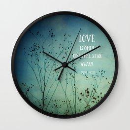 One Fine Star Away Wall Clock