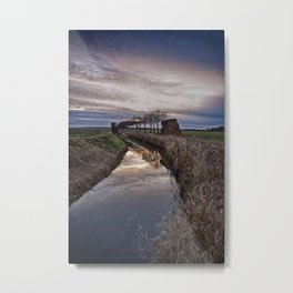 Landscape of The Marsh At Sundown Metal Print