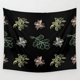 Quercus (black) Wall Tapestry