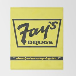 Fay's Drugs | the Immortal Yellow Bag Throw Blanket