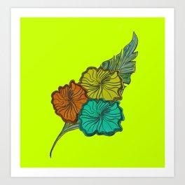 Australica Lime Pash Tropicana Art Print
