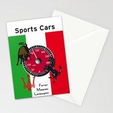 Ferrari, Maserati, Lamborghini : an italian trilogy. Vintage Decoration Print Poster Stationery Cards