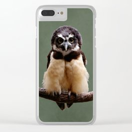 Adorable Spectacled Owl Clear iPhone Case
