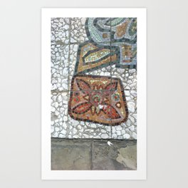 Tile Mosaique Detail Art Print