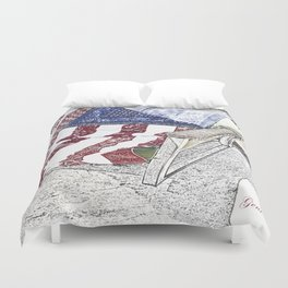 Keep on Rockin' in the Free World Duvet Cover