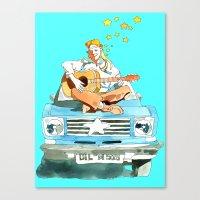 hippie Canvas Prints featuring Hippie by Ecsentrik