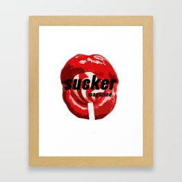 Sucker Magazine Logo Framed Art Print