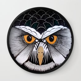 Spectacled Owl Wall Clock