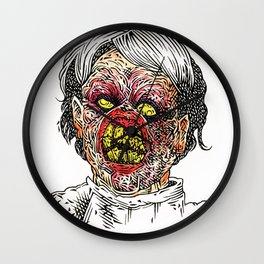 Evil Ed (color) Wall Clock