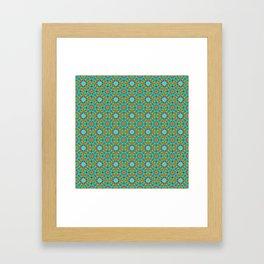 Moroccan Tile 1A - Blue Framed Art Print