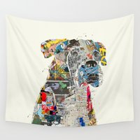 mod Wall Tapestries featuring the mod boxer by bri.b