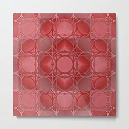 Circles, Grids and Shadows Metal Print