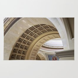 Wisconsin Capitol Building Arches And Angles Rug