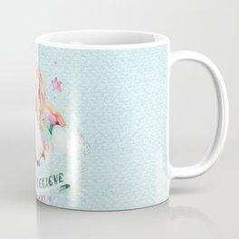 Magical pink teal watercolor rainbow unicorn typography Coffee Mug