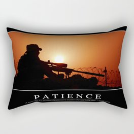 Patience: Inspirational Quote and Motivational Poster Rectangular Pillow