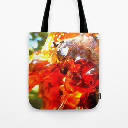 Apricot Resin Abstract Tote Bag
