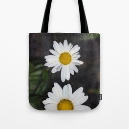 Old And Young Daisies Texture Tote Bag