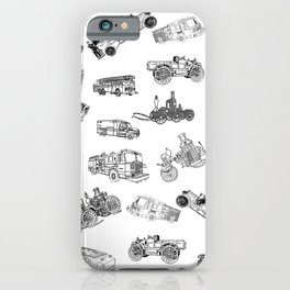 Fire Trucks - Old and New iPhone Case