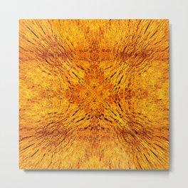 Golden Orange Colorburst Metal Print