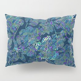 Line Drawing Ornate Floral Pillow Sham
