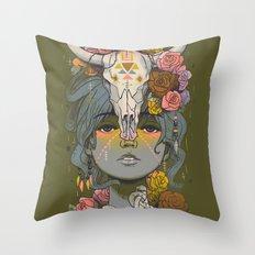 Desert Rose Throw Pillow