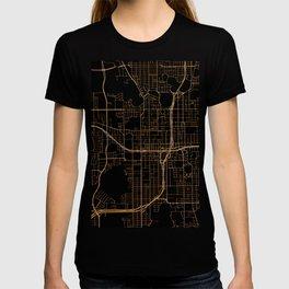 Black and gold Orlando map T-shirt