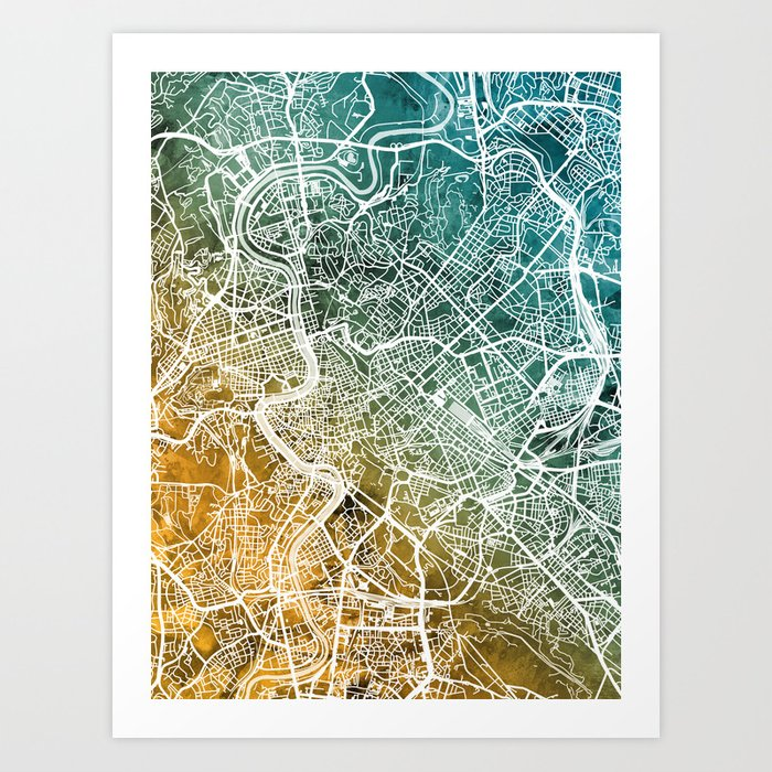 Rome Italy City Map Art Print by artpause on city of salvador brazil map, city of izmir turkey map, city of monterrey mexico map, verona italy map, city of spain map, city of tegucigalpa honduras map, city of manila philippines map, rome hop on map, city of belgrade serbia map, rome city tourist map, city of manaus brazil map, city of reykjavik iceland map, city of beijing china map, city of calgary canada map, city of germany map, city of los angeles california map, city of marseille france map, city of zurich switzerland map, city of caracas venezuela map, city of buenos aires argentina map,