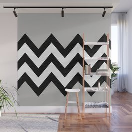 GRAY COLORBLOCK CHEVRON Wall Mural