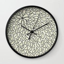 Pearlised Drops - Ivory Wall Clock