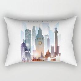 London city skyline, United Kingdom Rectangular Pillow