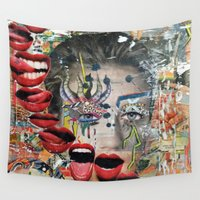 lip Wall Tapestries featuring Lip Service by Katy Hirschfeld