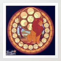 simba Art Prints featuring Simba by NicoleGrahamART