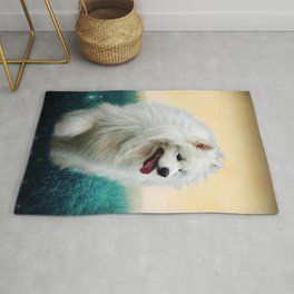 Samoyed On A Summer Evening Rug
