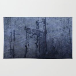 Electricity in the mist Rug