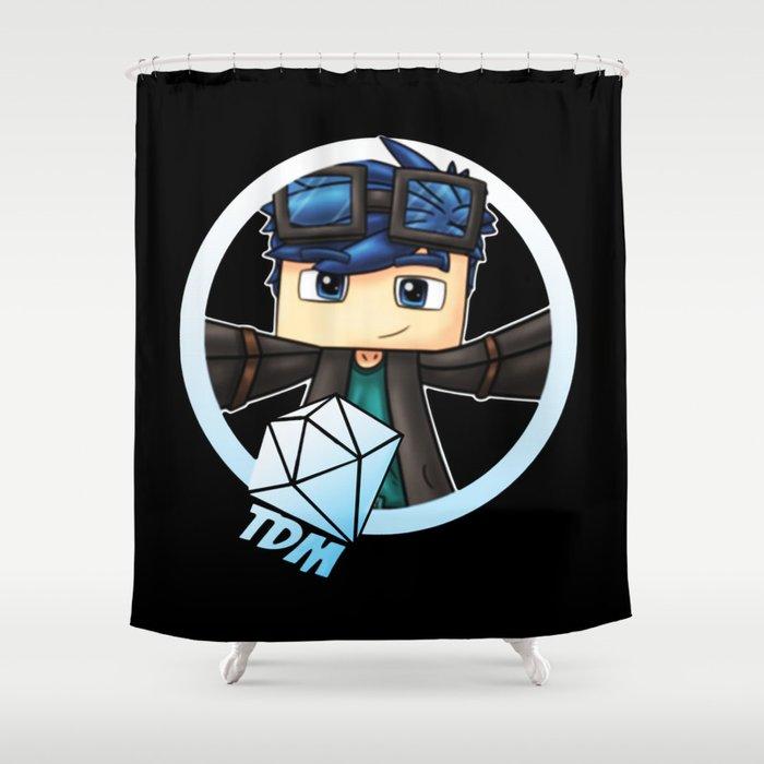dantdm mincraft the diamond minecart shower curtain by bobbyarts